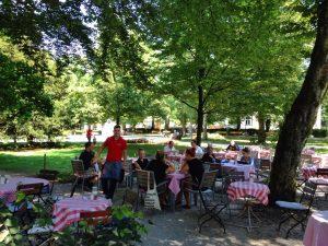 Traumhafte Sonnenterasse Park Café am Stadtpark Traunstein