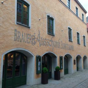 Brauerei Ausschand Schnitzlbaumer in Traunstein