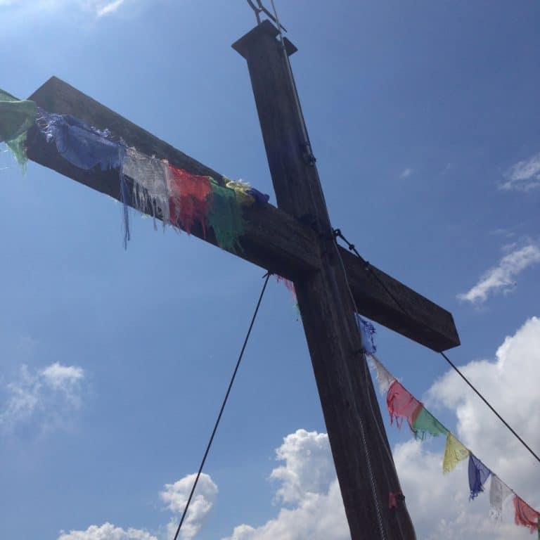 Gipfelkreuz am Spitzstein